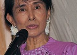 Burmese opposition leader and political candidate Aung San Suu Kyi.