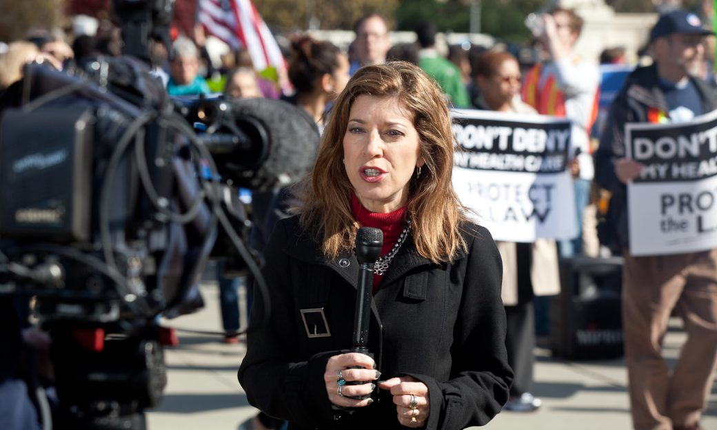 Carolyn Presutti covers Obamacare demonstrations outside the U.S. Supreme Court on the opening day of oral arguments.