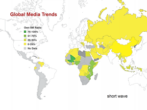 map of global shortwave use