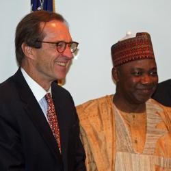 Ensor and Nigerian VP Sambo