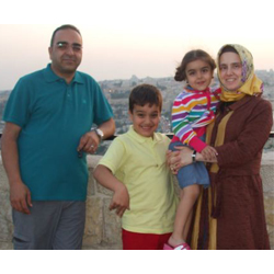 Bashar Fahmi, Arzu Fahmi and their two children.