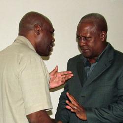 Shaka Ssali and Ghana's President, John Dramani Mahama, meet in Accra