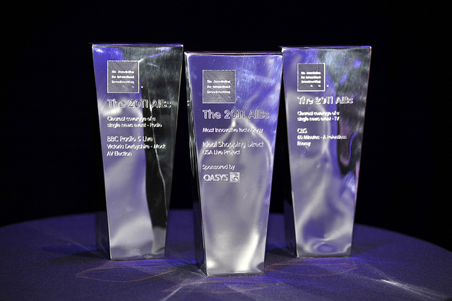 three clear AIB trophies