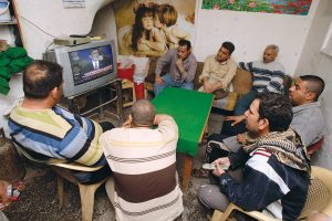 Iraqi men watch BBG's Alhurra TV