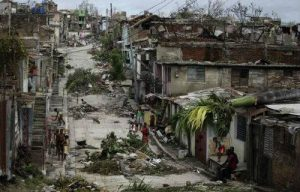 Storm devastation in Holguin, Cuba