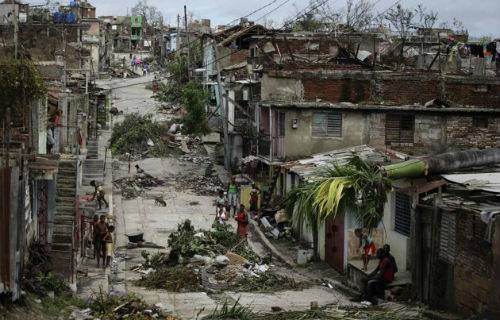 Storm devastation in Holguin, Cuba, shown in a photo provided by a ...