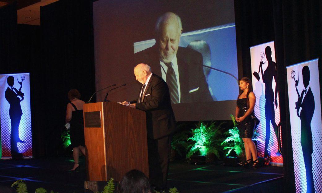 IBB Director Richard Lobo accepting the Gold Circle Award