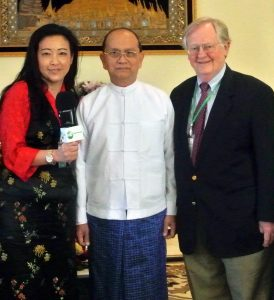 RFA President Libby Liu, President Thein Sein, and Governor Victor Ashe