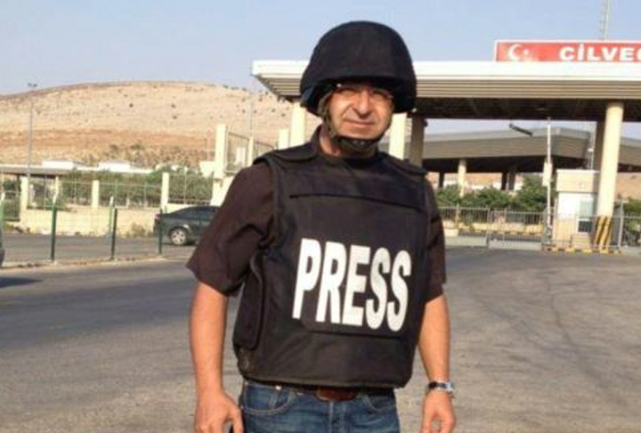 Alhurra reporter Bashar Fahmi in the field