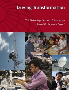 Cover of the Technology, Services & Innovation Annual Performance Report, 2012