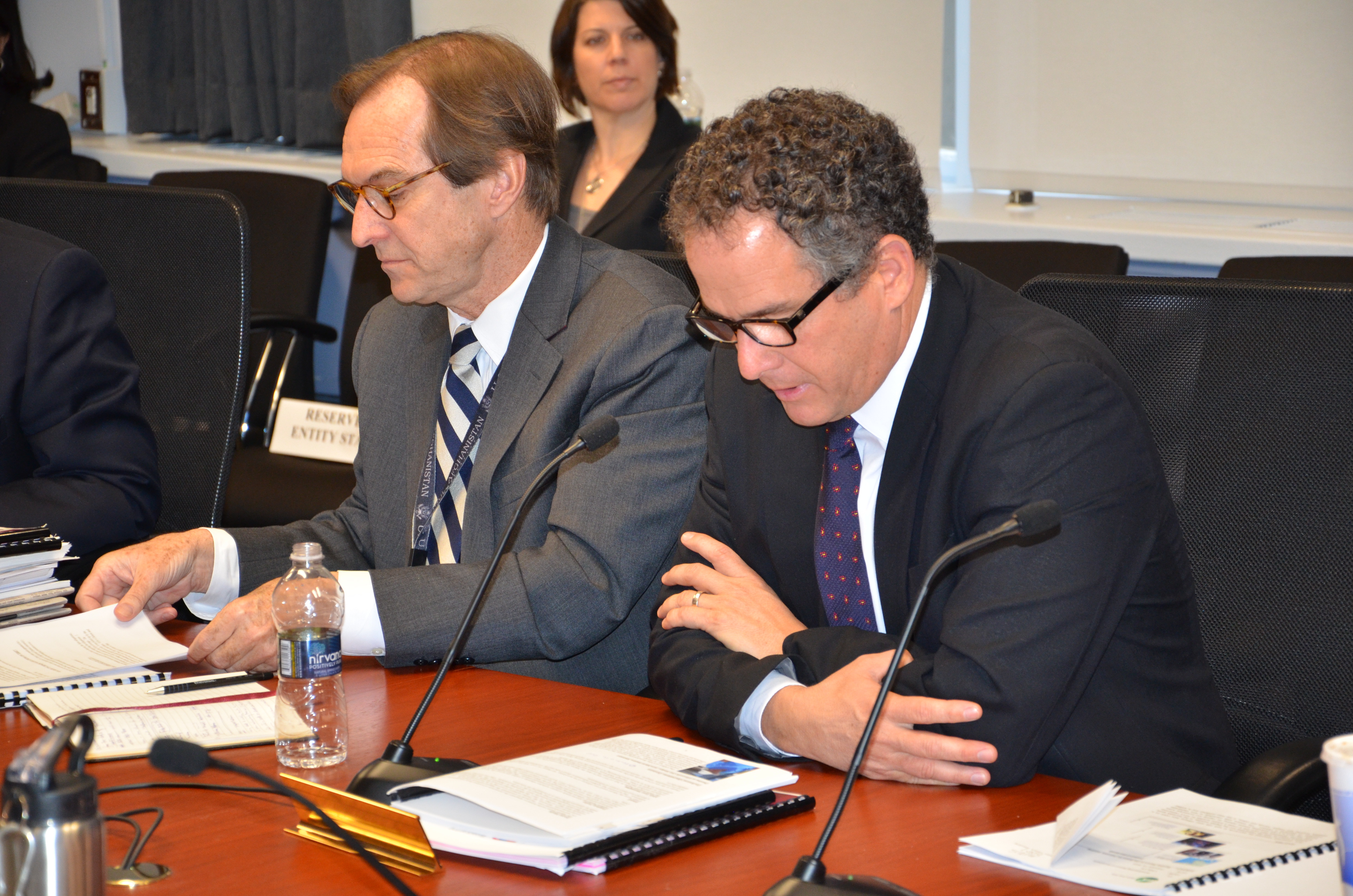 Broadcasting Executives David Ensor and Carlos Garcia-Perez present to the board on Feb 22, 2013