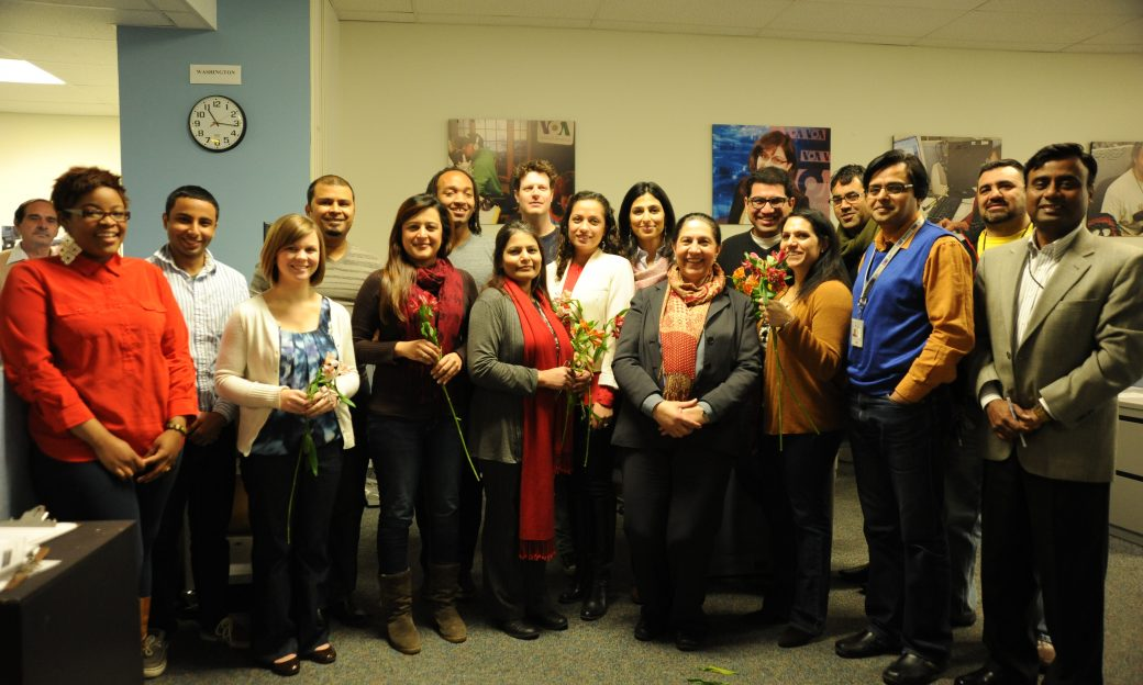 VOA's Urdu Service gathered for a special International Women's Day video greeting