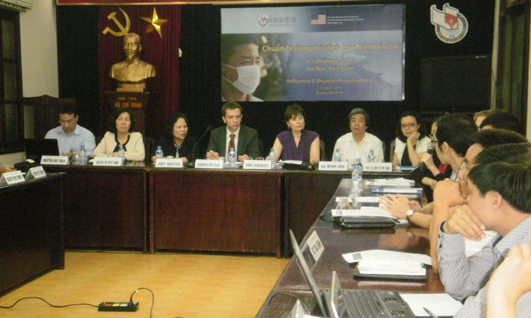 Journalists in Vietnam participate in a BBG workshop on covering avian influenza