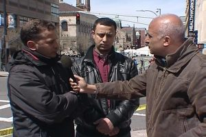 Alhurra correspondent gets reaction from people in Boston