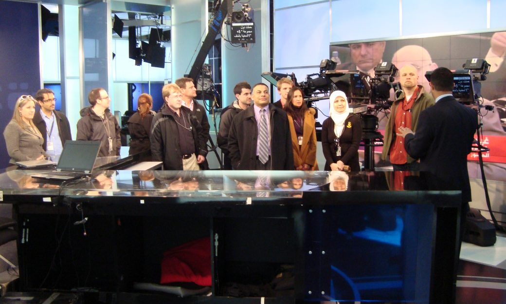 Foreign service officers in training visit the Alhurra studios.