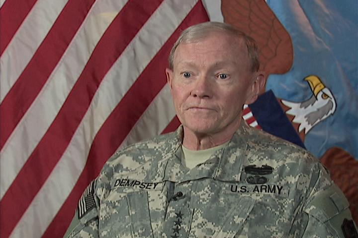 U.S. Chairman of the Joints Chief of Staff General Martin Dempsey spoke with Alhurra television
