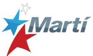 marti logo with blue and red stars