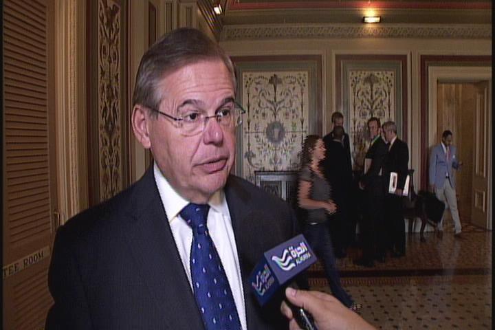 Senator Menendez speaks with Alhurra TV
