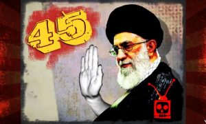 "Graphic with Iran's Supreme Leader, Ali Khamenei, produced for the 45th episode of the award winning VOA program ""OnTen."""