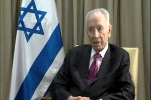 Shimon Peres speaks with Alhurra TV