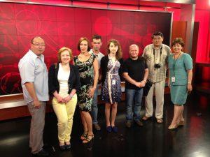 Russian Fellows in TV studio