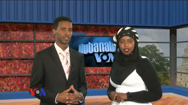 Abdi H. Mahamud and Sahra Nur host Variety, the VOA Somali Service's first ever TV program