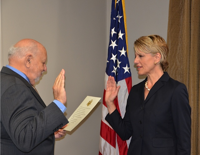IBB Director Richard Lobo Swears in Leslie Hyland
