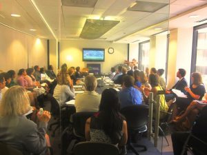 Standing room only at a recent RFA event on media transitions in Myanmar