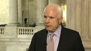 Screenshot of Sen. McCain speaking with Alhurra in the Capitol rotunda