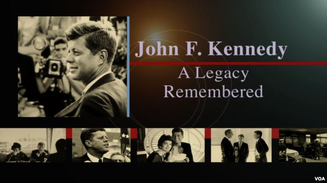 Collage of photos of JFK