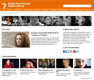screen shot of RFE/RL's website