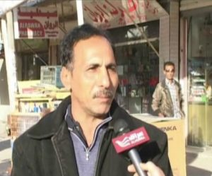 Man on the street speaks with Alhurra reporter in Iraq