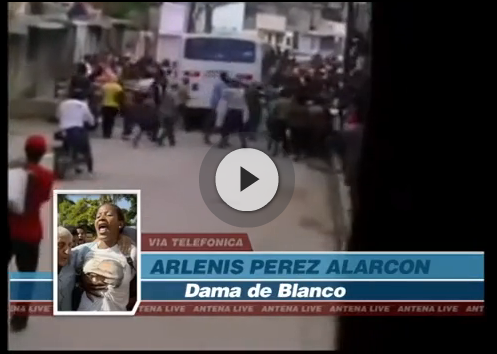 screengrab of video covering human rights protests in Cuba