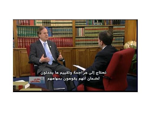 Congressman Robert Pittenger (R-NC) spoke with Alhurra's Robert Satloff