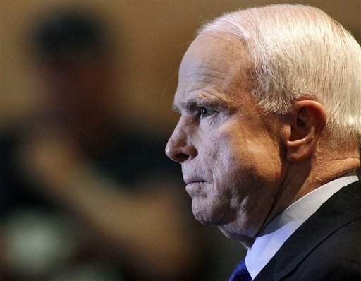 side profile of Sen. John McCain