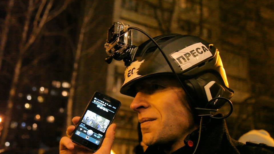 RFE/RL correspondent Andriy Dubchak reporting live in Kyiv, Dec 2013