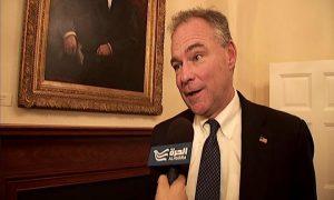 Senator Kaine speaks with Alhurra reporter