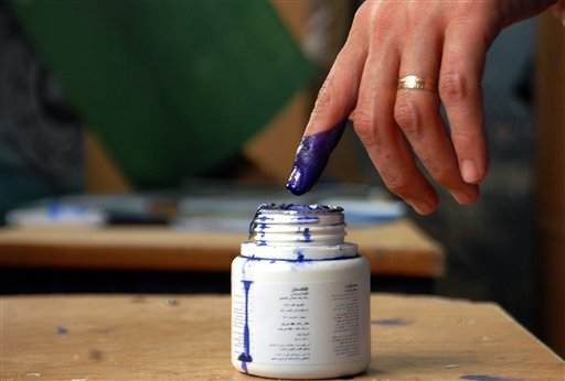 closeup of finger dipping in ink, signifying the person voted