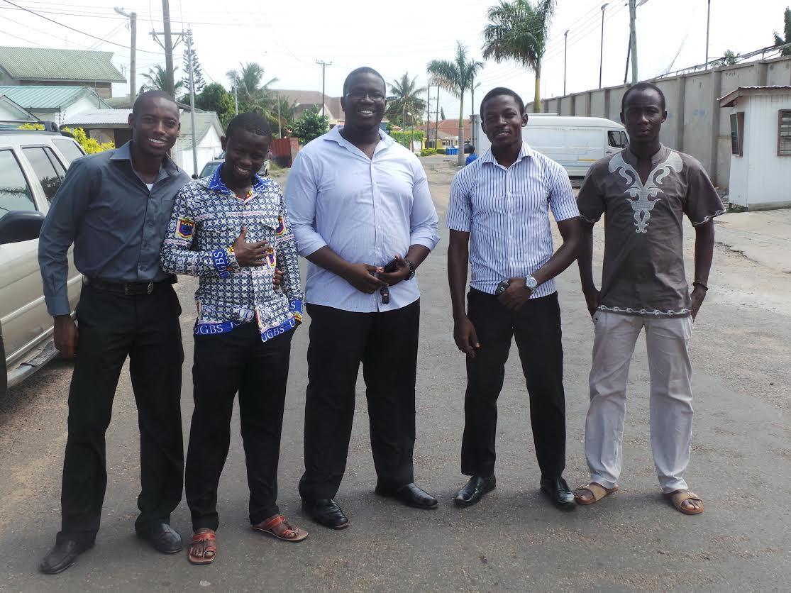 group of men smiling