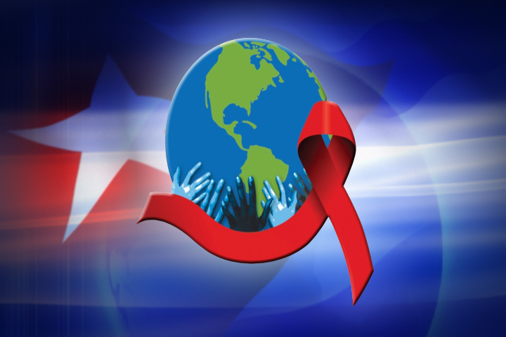Logo from TV Marti's special coverage of AIDS in Cuba