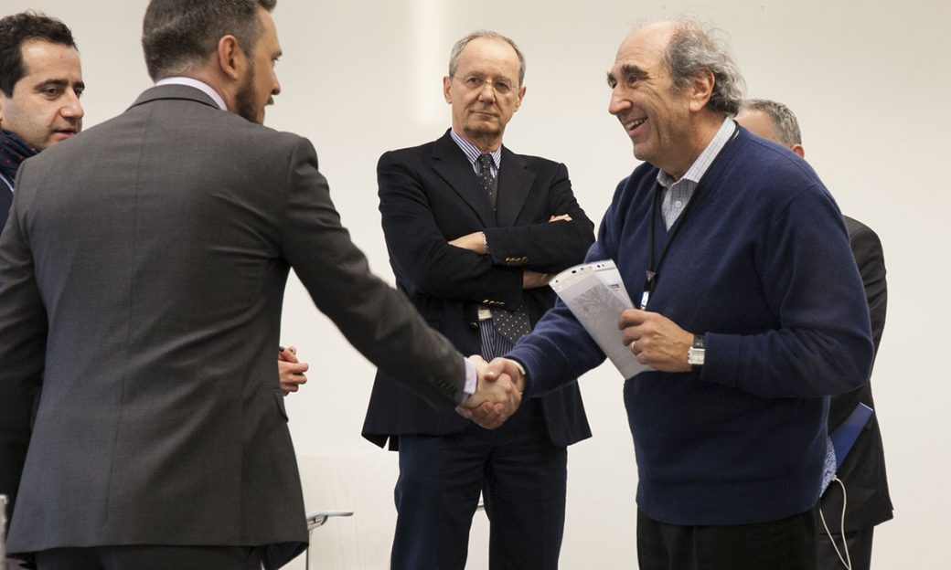 BBG CEO Andy Lack meets with RFE/RL editor-in-chief and co-CEO Nenad Pejic (center) and staff in Kyiv.