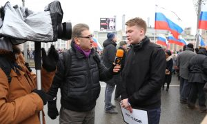 Mumin Shakirov was part of RFE/RL's team that provided live streaming coverage of the Moscow march honoring slain opposition leader Boris Nemtsov.