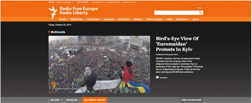 Bird's Eye View of 'Euromaidan' Protests in Kyiv