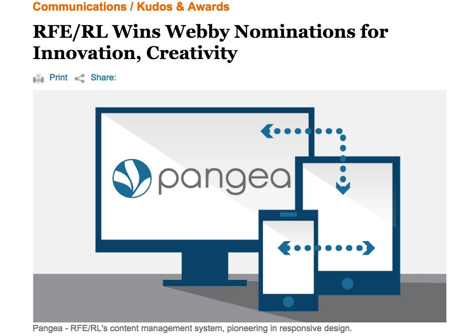 RFE/RL Webby Awards
