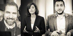 (l-r) Pierre Jad, Leila Bazzi, and George Chawah