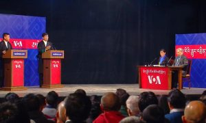 VOA hosted this election debate in India for Tibet's political leader in exile.
