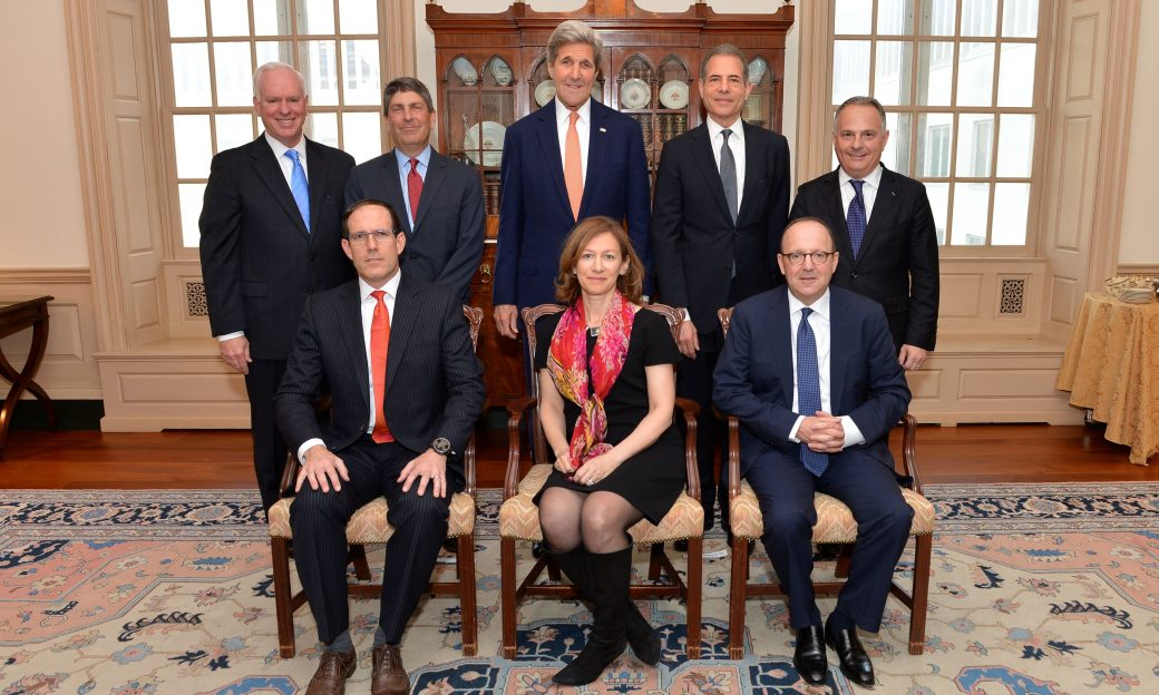 Picture of the Board of Governors, including John Kerry