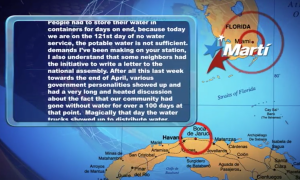 screengrab from animation accompanying audio from Radio Marti report