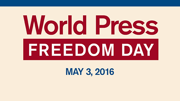 "Text reading ""World Press Freedom Day, May 3, 2016"""