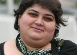 Portrait of Azerbaijani journalist Khadija Ismailova.
